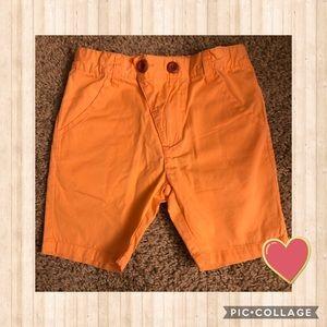 Kipp Orange Polished Cotton Shorts - Boys Size 3